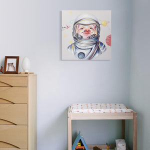 Astronaut - Canvas Print with Paint touches - Osharey Framed Wall Art