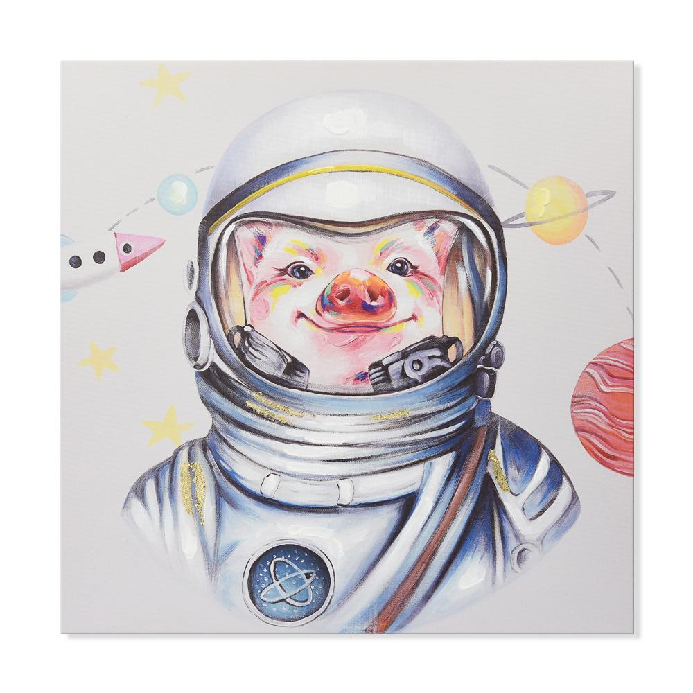 Astronaut - Canvas Print with Paint touches - Osharey Canvas Wall Art
