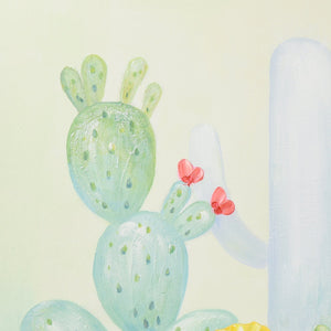 Cactus in Colors - Hand Painted Art - Osharey Canvas Wall Art