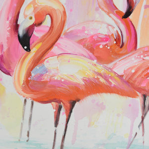 Flamingo Grace - Hand Painted Art - Osharey Canvas Wall Art