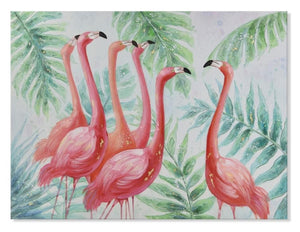 Flamingo - Hand Painted Art - Osharey Canvas Wall Art