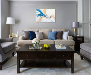 Blue Phoenix - Painting - Osharey Framed Wall Art