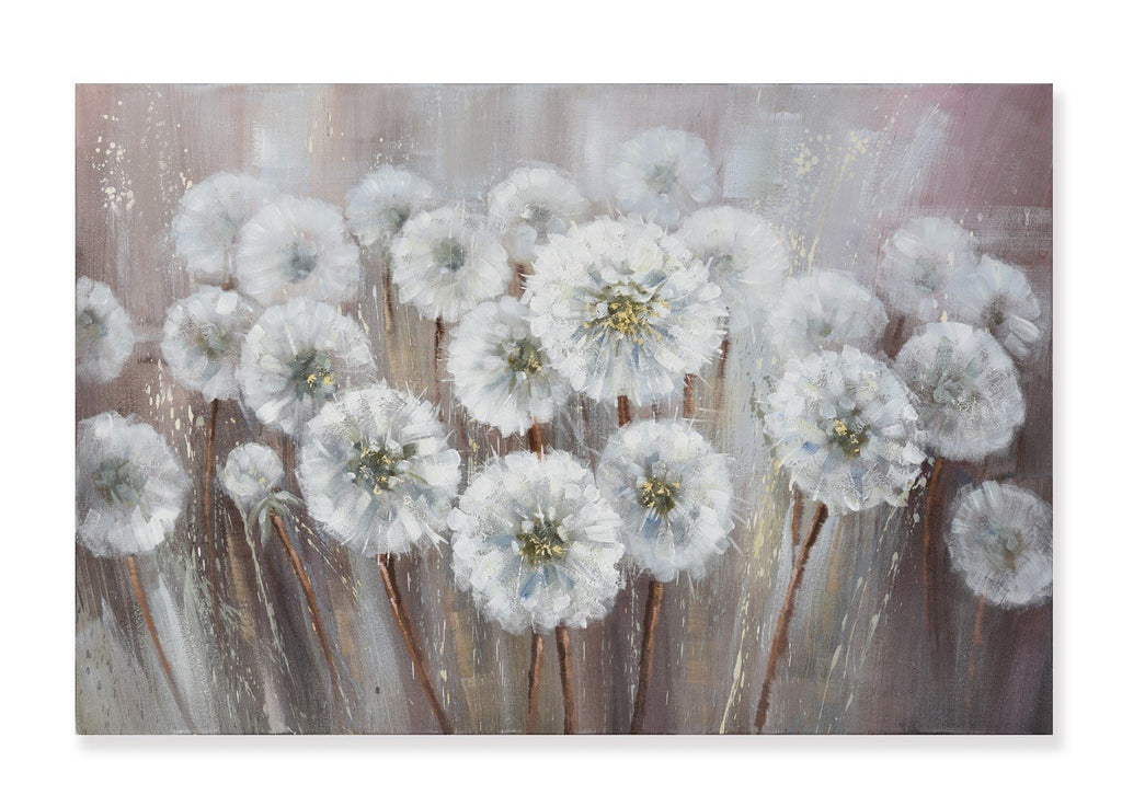Dandelion in Rain - Painting - Osharey Framed Wall Art