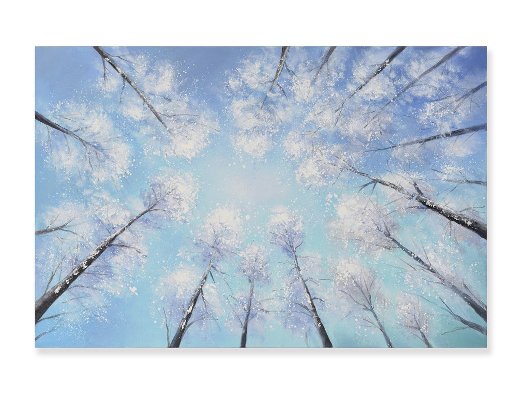 Winter Forest - Hand Painted Art - Osharey Canvas Wall Art
