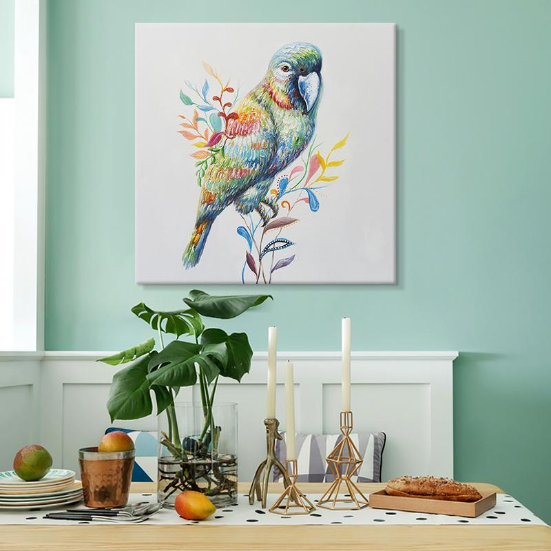 Parrot - Hand Painted Art - Osharey Canvas Wall Art