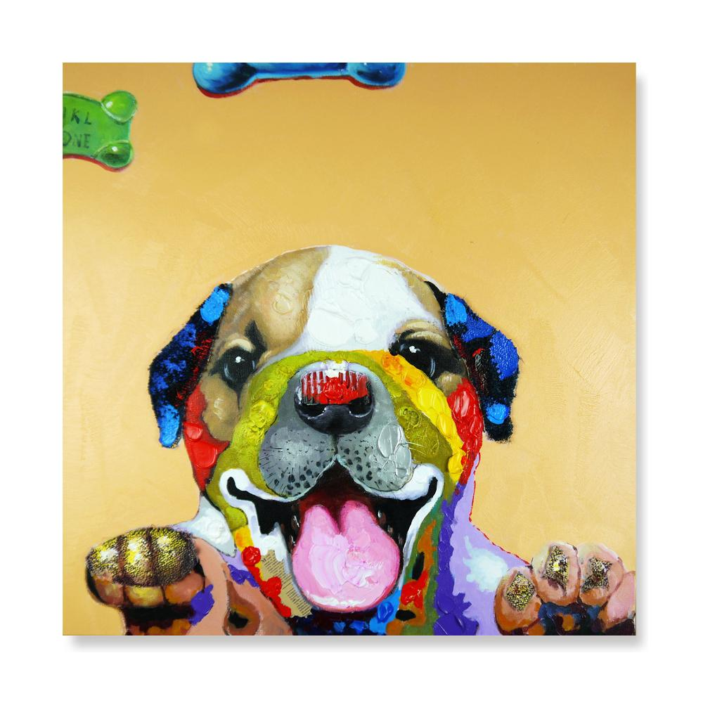 Puppy - Hand Painted Art - Osharey Canvas Wall Art