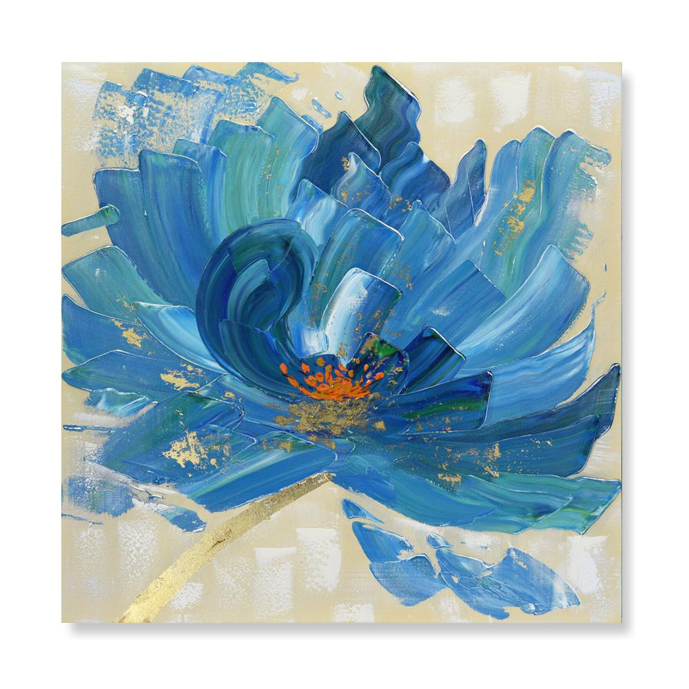 Blooming in Blue - Hand Painted Art - Osharey Canvas Wall Art