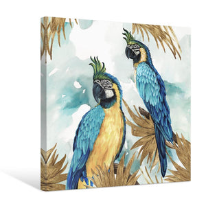 Golden Parrots - Canvas Print - Osharey Framed Wall Art