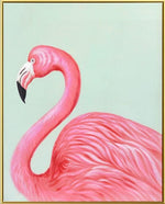 Load image into Gallery viewer, Elegant Flamingo - Canvas Print with Paint touches - Osharey Framed Wall Art