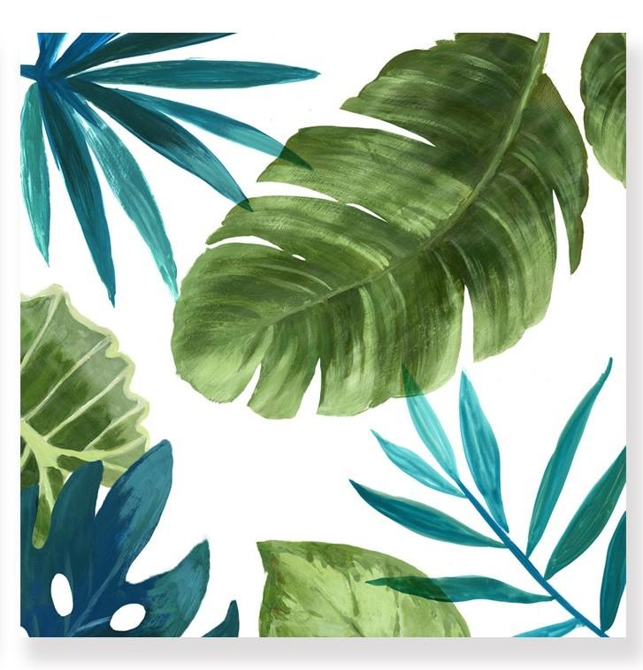 Green Tropical Leaves - Canvas Print - Osharey Framed Wall Art