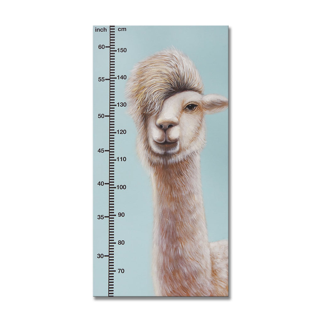 Watch Me Grow - Alpaca - Canvas Print with Paint touches - Osharey Canvas Wall Art