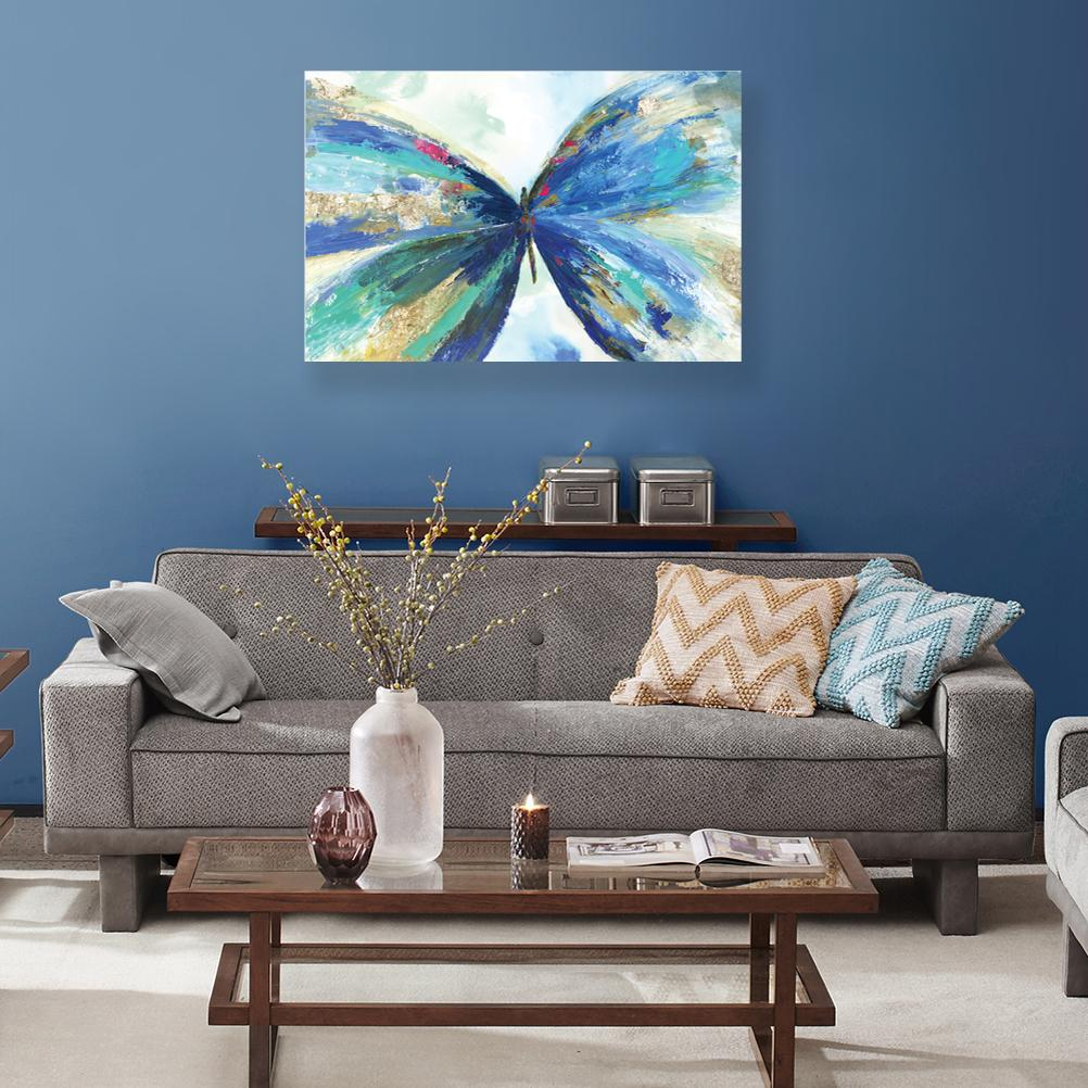Blue Butterfly - Canvas Print - Osharey Framed Wall Art