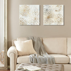 Golden Stars - Canvas Print - Osharey Framed Wall Art