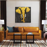 Load image into Gallery viewer, Elephant in Gold - Painting - Osharey Framed Wall Art