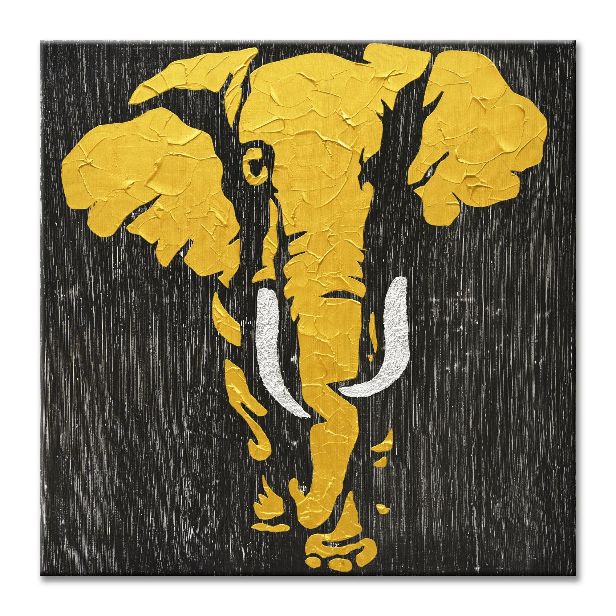 Elephant in Gold - Painting - Osharey Framed Wall Art