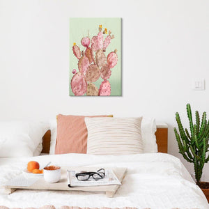 Pink Cacti - Canvas Print - Osharey Framed Wall Art