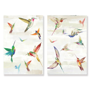 Hummingbirds - Canvas Print - Osharey Framed Wall Art
