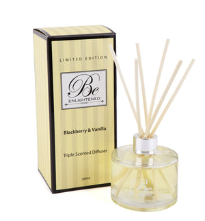 Elegant Triple Scented Diffuser 200ml Blackberry & Vanilla