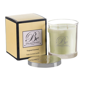 Elegant Triple Scented Candle 400g Tropical Coconut