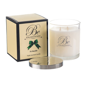 Elegant Triple Scented Candle 400g Fir Needle