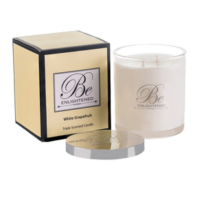 Elegant Triple Scented Candle 400g White Grapefruit