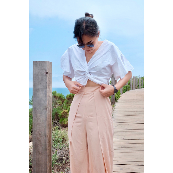 BEACH PANTS GRACE - IVORY