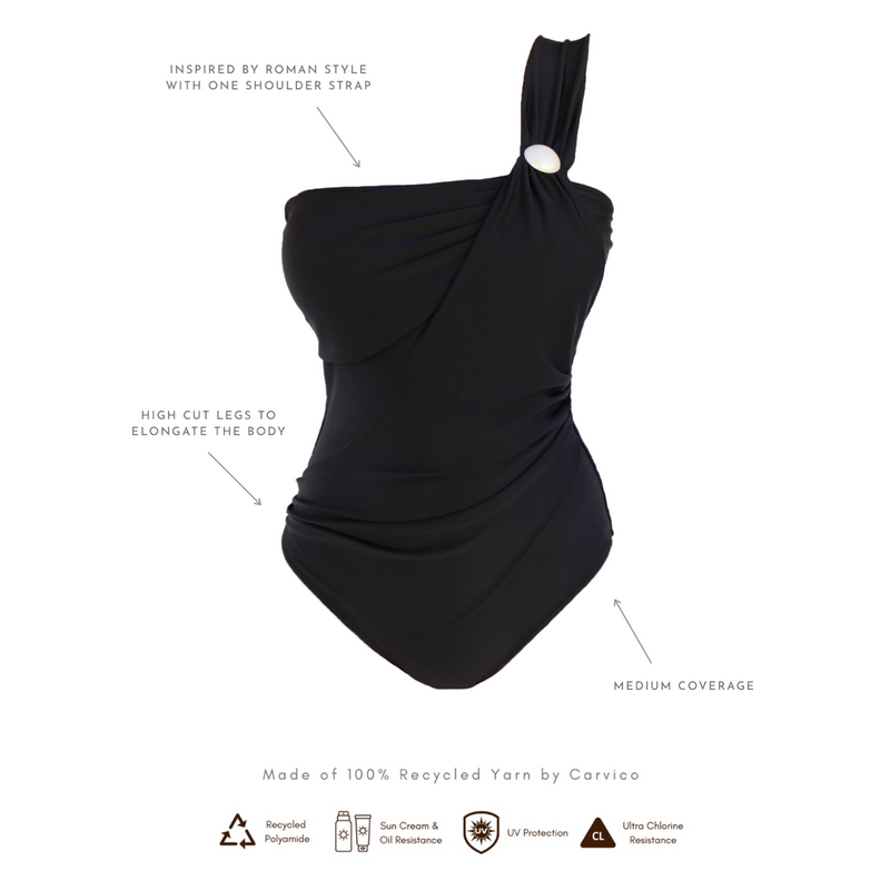 SUSTAINABLE SWIMWEAR ONE-PIECE CALM - NIGHT