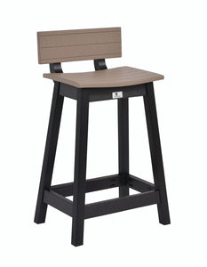 Bar Stool Saddle Seat Back Kit