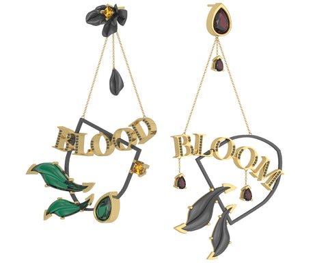 BLOOM BLOOD Mismatched Earrings