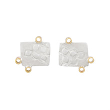 Load image into Gallery viewer, Missense Silver Stud Earrings with Tiny 9K Gold Hoops | Imprint Collection | Margo Orlovik