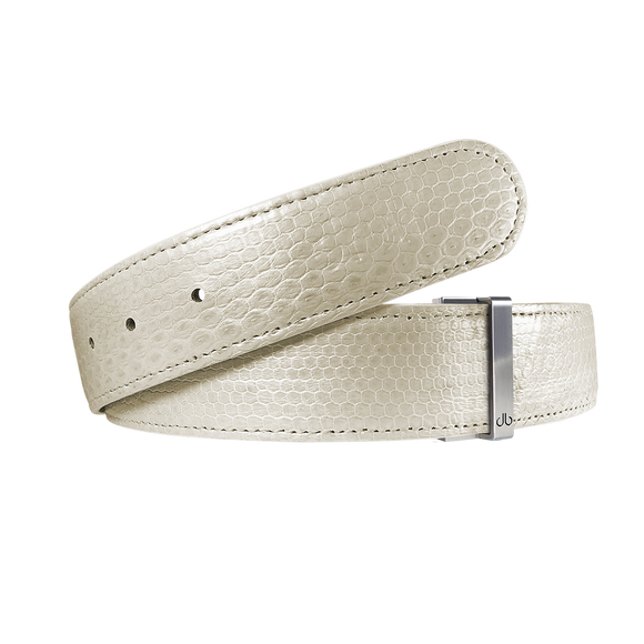 White Snakeskin Leather Strap