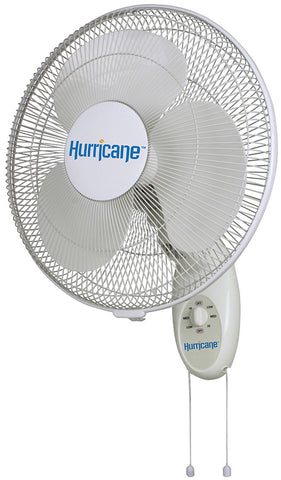 Hurricane® Supreme Oscillating Wall Mount Fan 16in & 18in