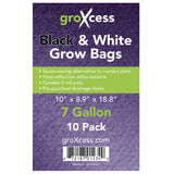 7 gal, Grow Bag, 10 Pack Black and White