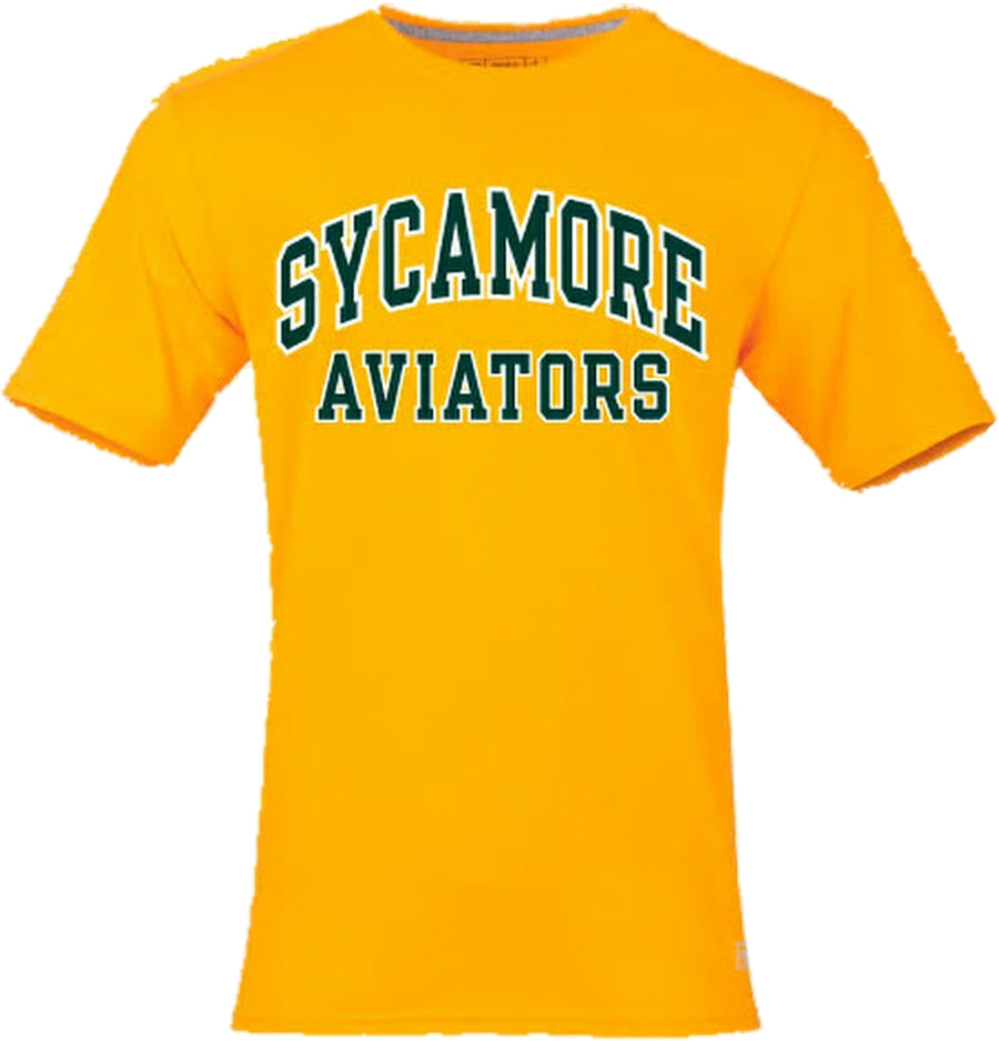 Sycamore Aviators Short Sleeve Tee in Athletic Gold