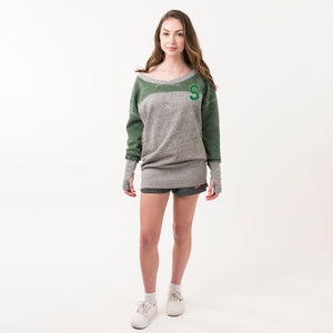 80s Oversized V-Neck Sweatshirt