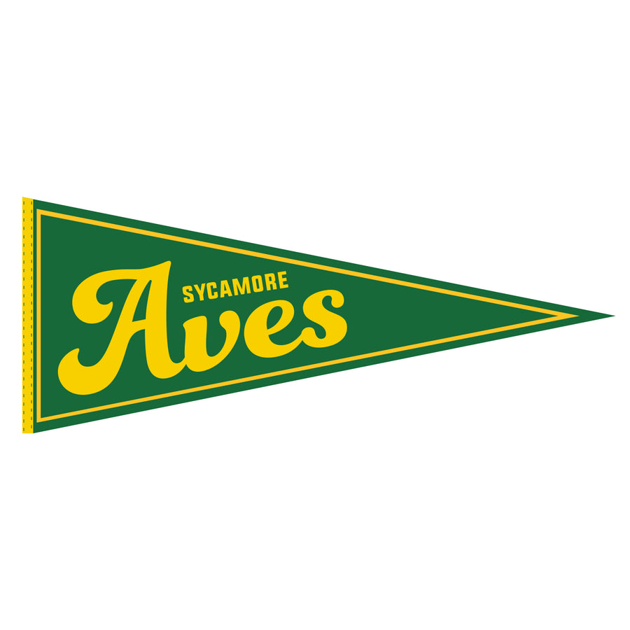 Sycamore Aves Traditional Felt Pennant