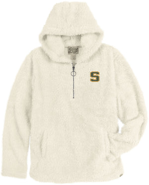 Ivory Sherpa Pullover Hood