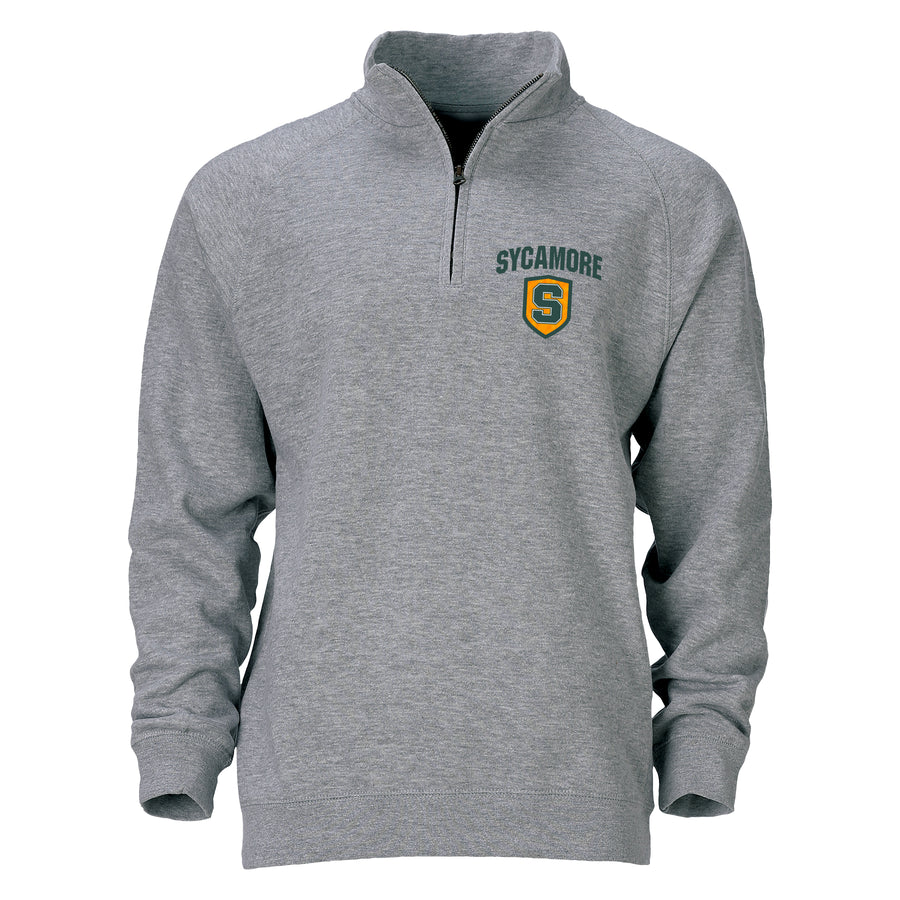 Benchmark 1/4 Zip in Premium Heather Gray