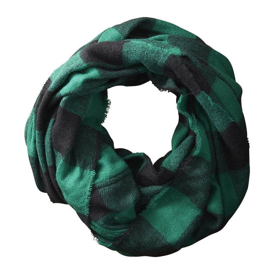 Green + Black Buffalo Scarf