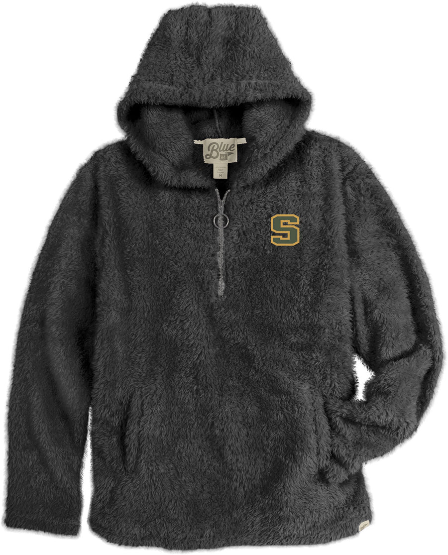Charcoal Sherpa Pullover Hood