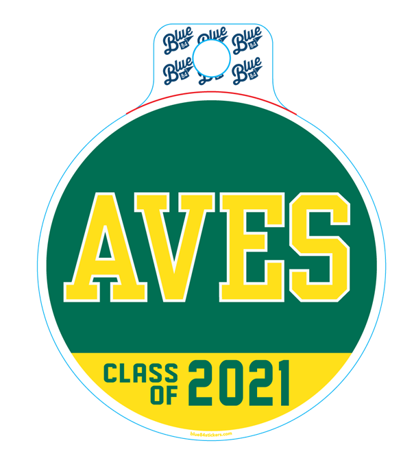 AVES Class of 2021 Sticker