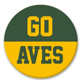 GO AVES Button Pin 3""
