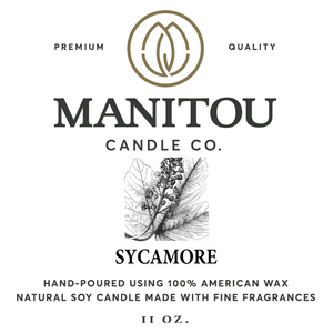 Manitou Sycamore Candle - 11 oz.