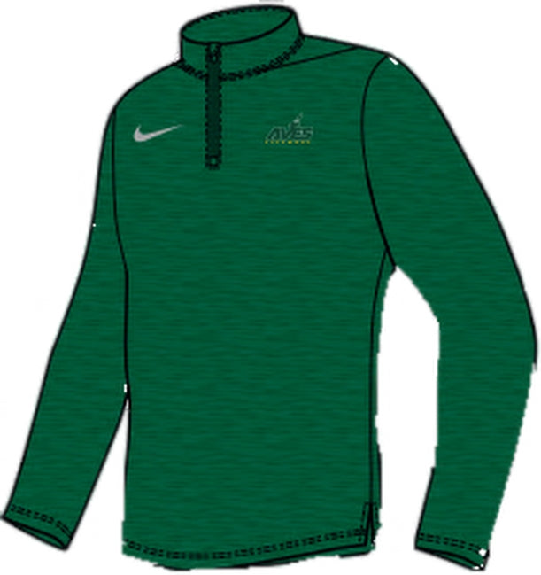 Intensity 1/4 Zip by Nike - Green with Aves Logo