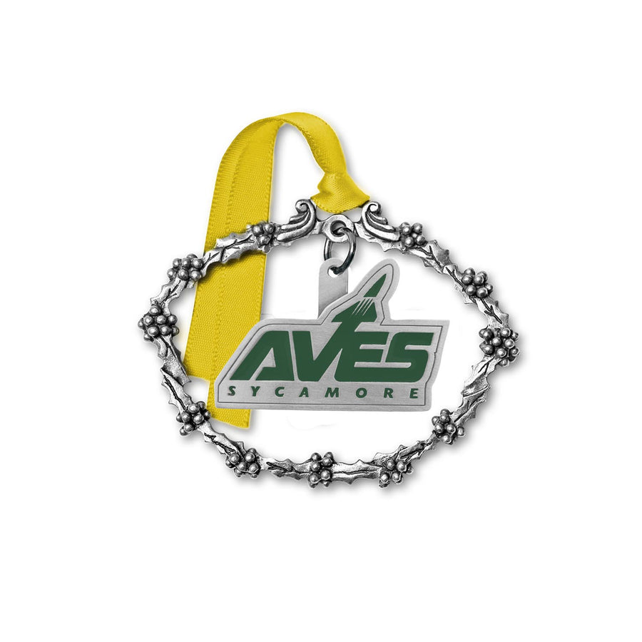 Aves Logo Pewter Ornament with Gift Box