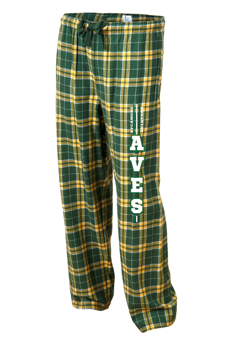 Flannel Lounge Pant in Green + Gold Plaid