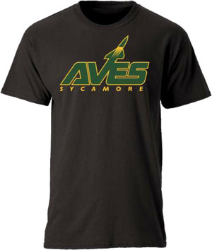 AVES Logo Short Sleeve Tee in Black