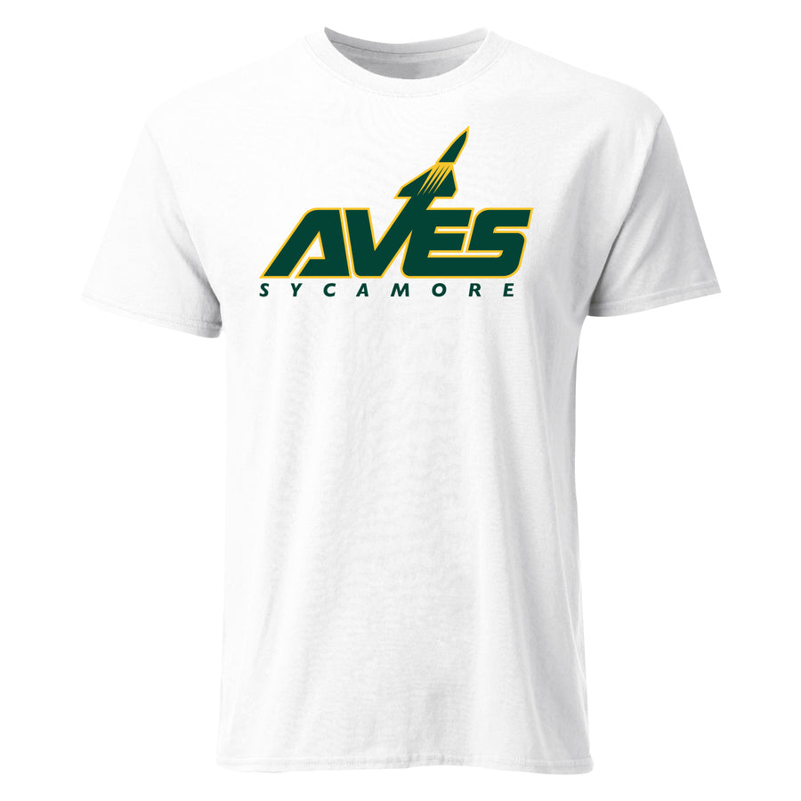 AVES Logo Short Sleeve Tee in White