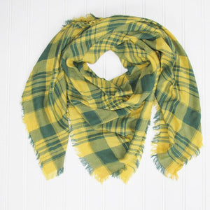 Soft Square Plaid Scarf