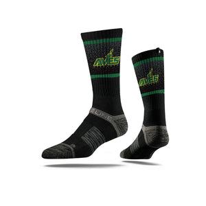 Aves Logo Crew Sock - Black